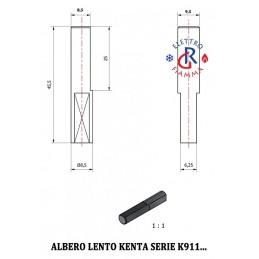 ALBERO LENTO MOTORIDUTTORE KENTA SERIE K911 - D9,5mm