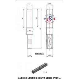 ALBERO LENTO MOTORIDUTTORE KENTA SERIE K917 - D8,5mm