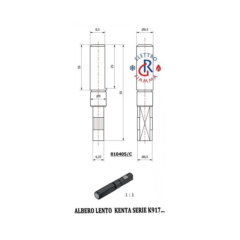 ALBERO LENTO MOTORIDUTTORE KENTA SERIE K917 - D9,5mm