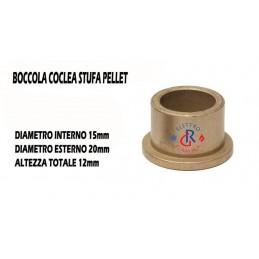 BOCCOLA BRONZINA  D15-20 BRONZINE PER TRAMOGGIA COCLEA STUFA PELLET MONTEGRAPPA THERMOROSSI