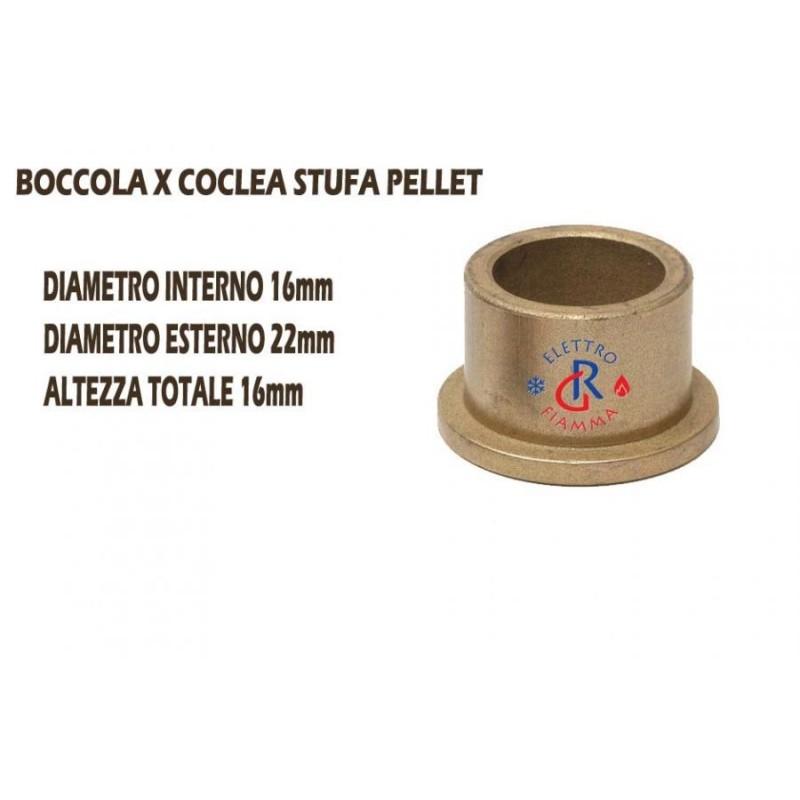 BOCCOLA BRONZINA OTTONE 16-22 H16 CON FLANCIA CARINCI CANDELETTA ANSELMO COLA