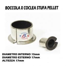 BOCCOLE BRONZINE BMF 1517 COCLEA STUFA PELLET CLAM