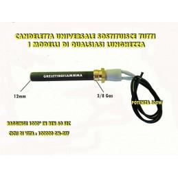 CANDELETTA CERAMICA STUFA PELLET UNIVERSALE 3/8 GAS 300W FORATA