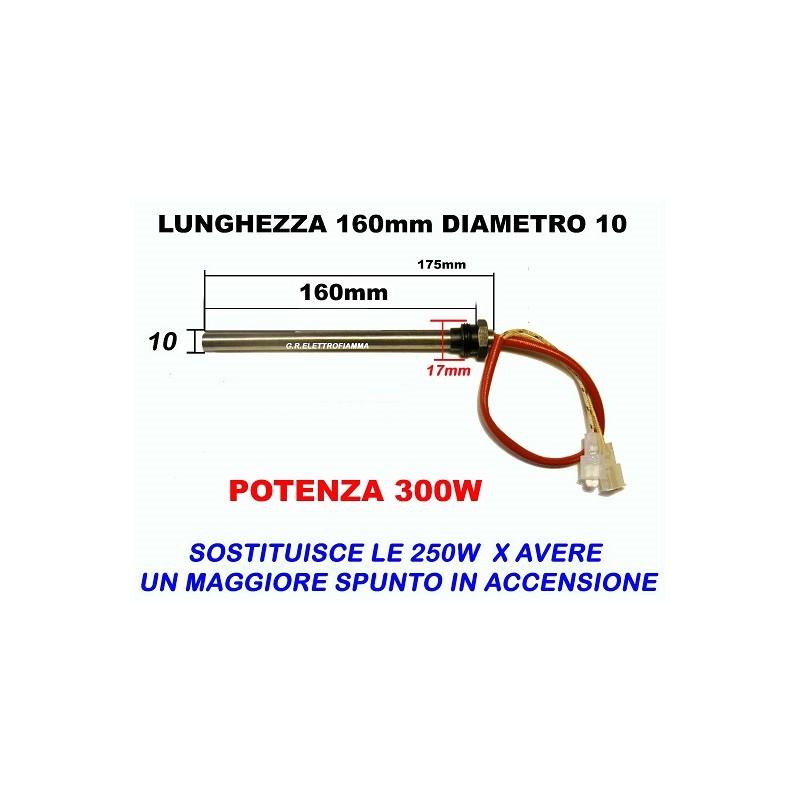 CANDELETTA RESISTENZA STUFA PELLET 9,5X160 HT55109 HT55084 RAVELLI