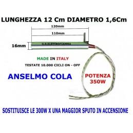 CANDELETTA STUFA PELLET 16X120 350W LAST CALOR ANSELMO COLA FERROLI