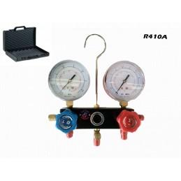 GRUPPO MANOMETRICO MANOMETRO PROFESSIONALE CON VALIGETTA 3 VIE X GAS R410A R410