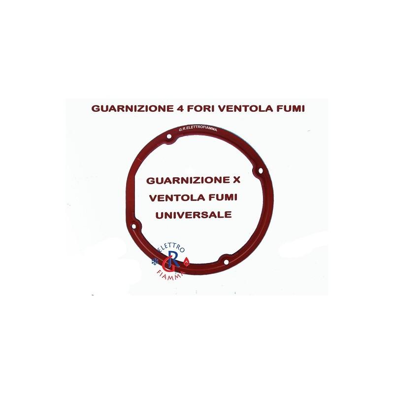 GUARNIZIONE AL SILICONE ESTRATTORE VENTOLA FUMI STUFA CALDAIA PELLET UNIVERSALE