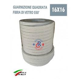 GUARNIZIONE QUADRATA ALTA TEMPERATURA 16X16mm SPORTELLO STUFA PELLET VULCANIA THERMOROSSI SICALOR CAMINO
