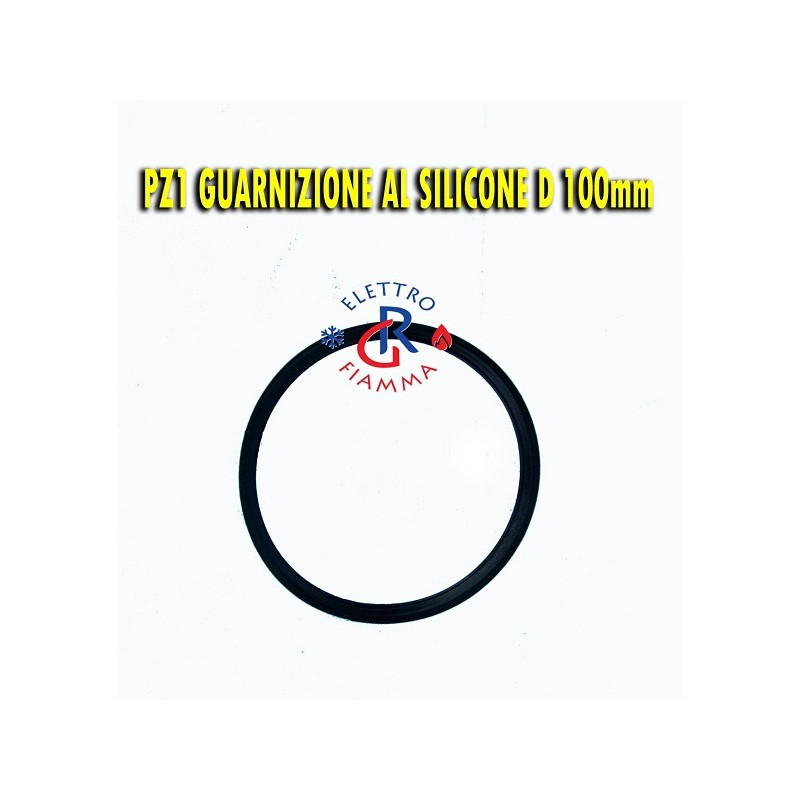 GUARNIZIONE SILICONE NERA TUBO D100 mm SCARICO FUMI STUFA CALDAIA PELLET