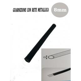 GUARNIZIONE UNIVERSALE SPORTELLO STUFA CALDAIA PELLET CON RETE METALLICA 8mm