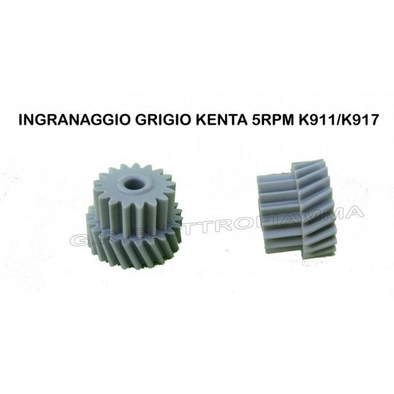 INGRANAGGIO IN PLASTICA GRIGIA PER MOTORIDUTTORE PELLET KENTA K9117169 3 e 5RPM