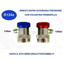 INNESTI RAPIDI ALTA BASSA PRESSIONE CLIMATIZZATORE AUTO GAS R134A
