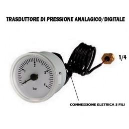 PRESSOSTATO TRASDUTTORE DI PRESSIONE ACQUA DIGITALE ANALOGICO LAMINOX EUROSTEK IMIT ECC
