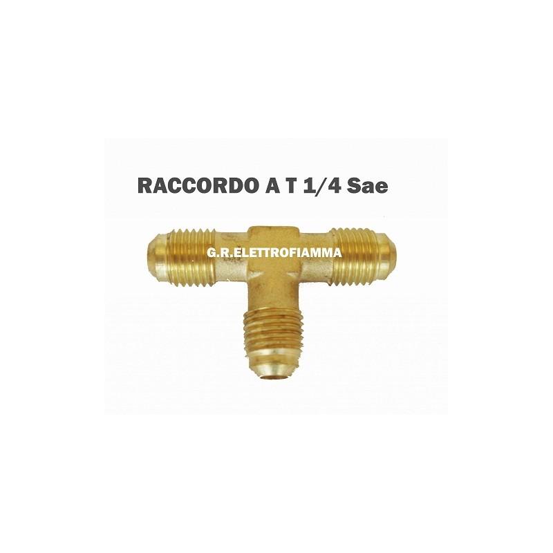 RACCORDO A T CONDIZIONATORE FRIGORIFERO 1/4 SAE