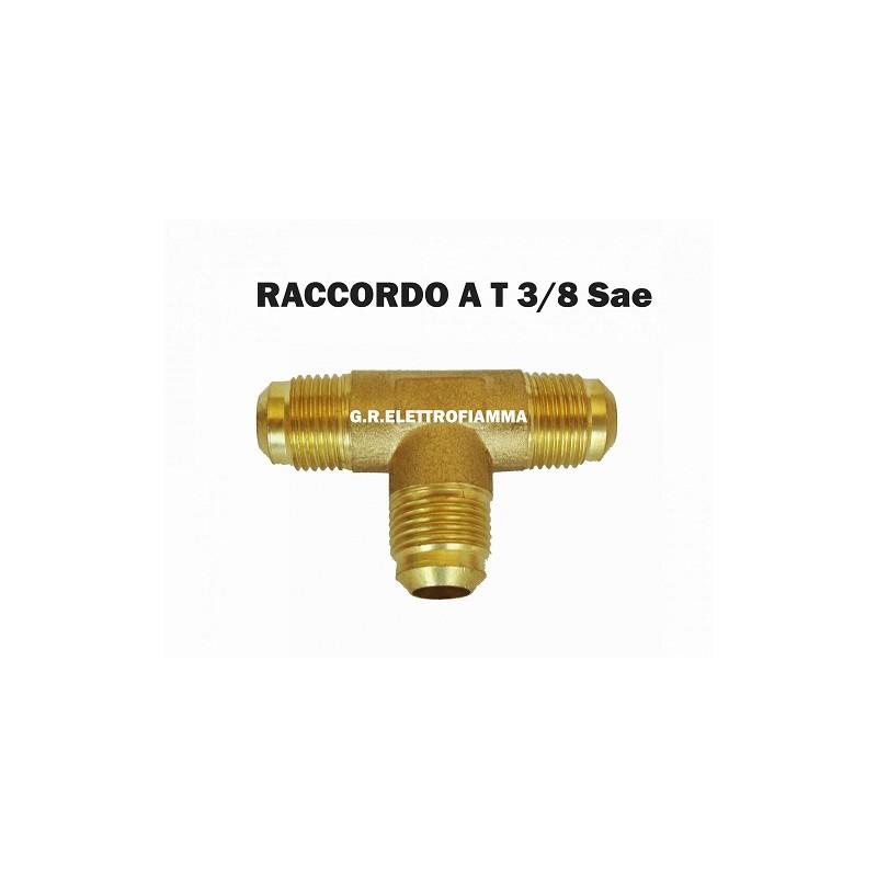 RACCORDO A T CONDIZIONATORE FRIGORIFERO 3/8 SAE