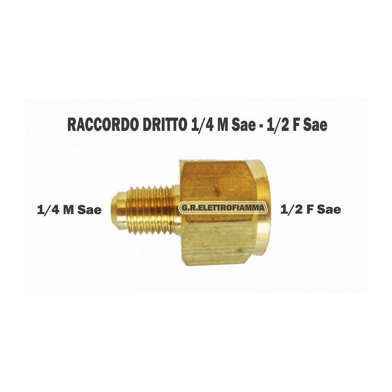 RACCORDO CONDIZIONATORE FRIGO 1/4SAE M 1/2 SAE F
