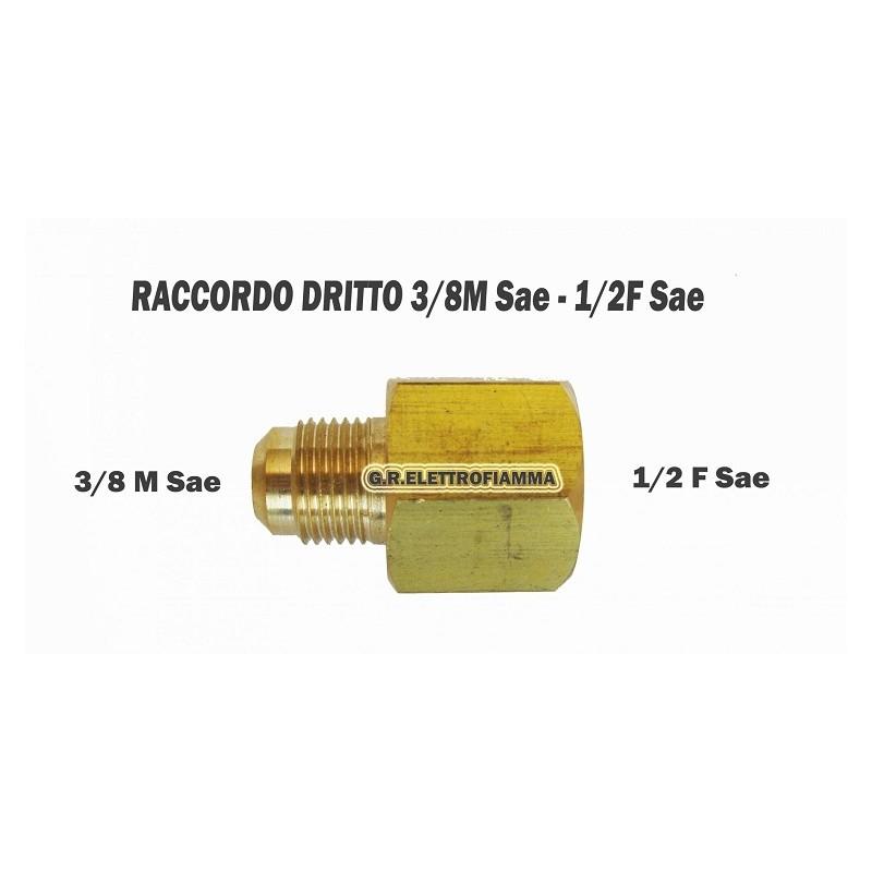 RACCORDO CONDIZIONATORE FRIGO 3/8SAE M 1/2 SAE F