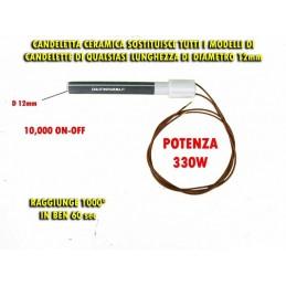 RESISTENZA CERAMICA STUFA PELLET UNIVERSALE D12mm ZIBRO PSX-1-240-B DDPSX-1240-B
