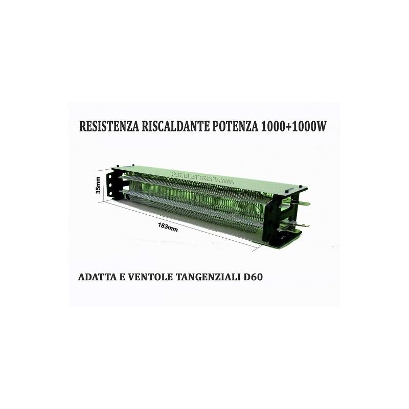 RESISTENZA ELETTRICA RISCALDANTE ASCIUGA STAMPE VENTOLA TANGENZIALE L180mm