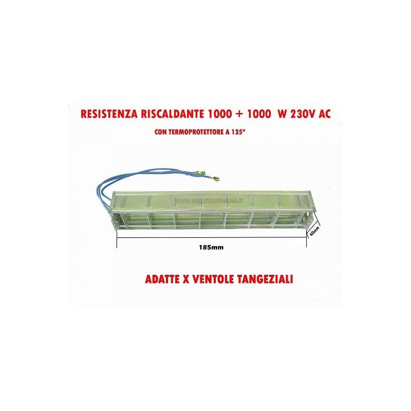 RESISTENZA ELETTRICA RISCALDANTE ASCIUGA STAMPE VENTOLA TANGENZIALE L185mm