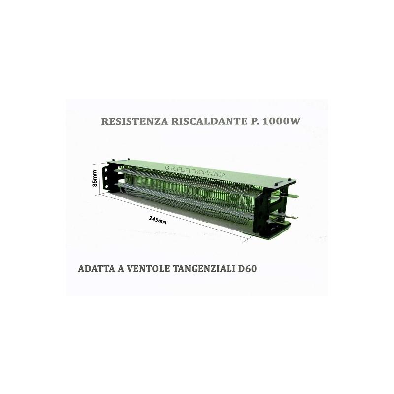 RESISTENZA ELETTRICA RISCALDANTE ASCIUGA STAMPE VENTOLA TANGENZIALE L240mm