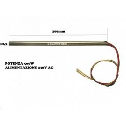 RESISTENZA RISCALDANTE 500W 12,5X300 - 230V AC