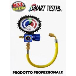 TESTER GRUPPO MANOMETRICO GAS R410A R32 TEST VERIFICA RICARICA CONDIZIONATORE CLIMA