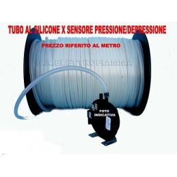 TUBO AL SILICONE X SENSORE PRESSIONE O DEPRESSIONE CALDAIA STUFE A PELLET