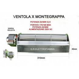 VENTOLA TANGENZIALE STUFA PELLET CAMINO MONTEGRAPPA 10000 11000 cod.149504 - 1184048100 CAMINO 31 cm SX