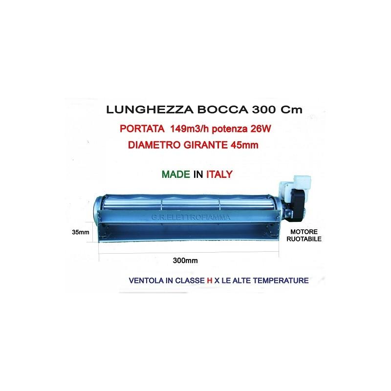 VENTOLA TANGENZIALE STUFA PELLET D45 L300 EMMEVI 107602
