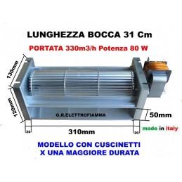 VENTOLA TANGENZIALE X STUFA PELLET CAMINO L31cm DX LAMINOX SIDEROS
