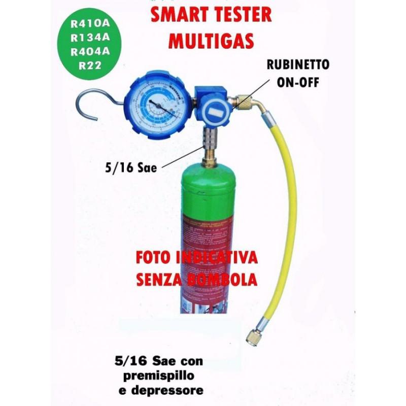 GRUPPO MANOMETRICO TESTER GAS R410A COMPATTO