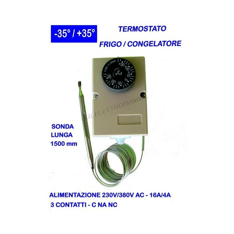 Termostato con sonda mobile -35°C +35°C REFRIGERAZIONE FRIGO R12 R134A R22