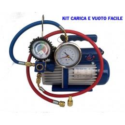 KIT CARICA E VUOTO POMPA 42 LT MANOMETRO RICARICHE GAS R410 R32 CONDIZIONATORE CLIMA NEW