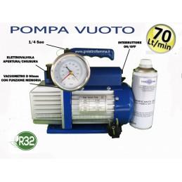 POMPA VUOTO CONDIZIONAMENTO REFRIGERAZIONE 70 LT-MIN GAS R32
