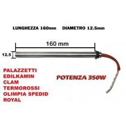 CANDELETTA STUFA PELLET 12.5x160 350W PALAZZETTI CLAM ROYAL OLIMPIA SPLENDID