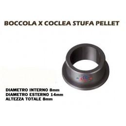 BOCCOLA COCLEA STUFA PELLET D 14 - 8